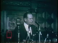 WSB-TV newsfilm clip of governor Marvin Griffin addressing the General Assembly on segregation and keeping public schools open, Atlanta, Georgia, 1956