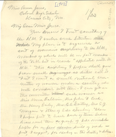 Letter from W. E. B. Du Bois to Anna Jones