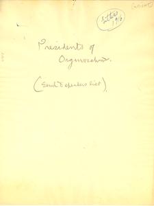 Presidents of Organizations