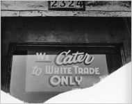 We Cater to White Trade Only sign, Portland, Oregon