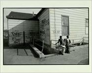 Children Play Outside Low Income Housing in Detroit in Poor Conditions, April 5, 1979