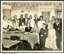 Large family at home, Indianapolis, Indiana, ca. 1935