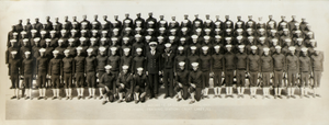 Company 1152. E.L. Moore, Chief Specialist, Company Commander. September 10, 1943. U.S. Naval Training Station, Great Lakes, IIIinois