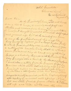 Letter from Archibald Johnson to Editor of the Crisis