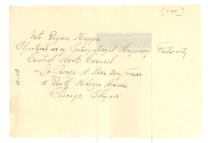 Address of Beta Sigma Kappa