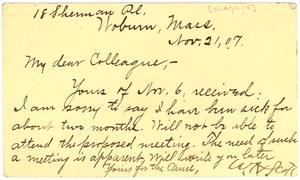 Postcard from W. H. Scott
