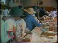 Series of WSB-TV newsfilm clips of activities organized for Poor People's Campaign participants visiting Atlanta and a Poor People's Campaign rally with speakers Coretta Scott King, Ralph D. Abernathy and Hosea Williams, Atlanta, Georgia, 1968 May 9