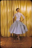 Diahann Carroll, gown by Erwin. 1257