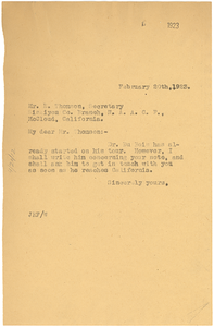 Letter from Jessie Fauset to NAACP-Siskiyou County Branch