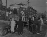 Jackson Street Community Council (JSCC) tree planting on Cherry Hill, Seattle, February 2, 1960