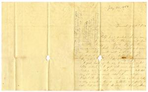 [Letter from Elvira Moore to Josephus C. Moore, July 10, 1859] Charles B. Moore Family papers, 1832-1917