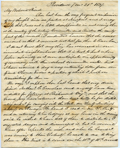 Letter from Samuel B. Tobey to Thomas Howland