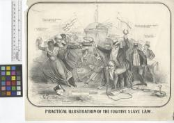 Practical illustration of the fugitive slave law E.C., del. [signed on stone].