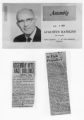 California 62nd District (Los Angeles) Assemblyman Augustus Hawkins and two newspaper clippings on race relations