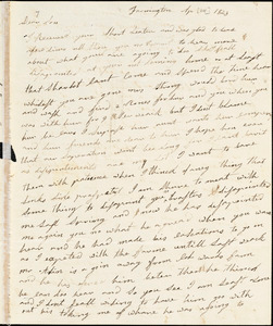 Letter from Clarissa Bodwell Phelps Tryon, Farmington, [Connecticut], to Amos Augustus Phelps and Charlotte Phelps, 1823 Apr[il 14th]