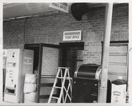Mississippi State Sovereignty Commission photograph of rear entrance to Trailways bus depot, Winona, Mississippi, 1961 November 1