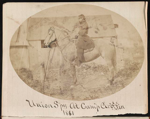 Union spy at Camp Griffin, 1861