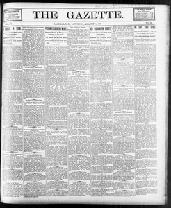 The Gazette. (Raleigh, N.C.), Vol. 9, No. 26, Ed. 1 Saturday, August 14, 1897 The Gazette The Weekly Gazette