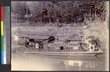 House boat on Yangtse, Wuhan, Hubei, China, ca.1890-1900