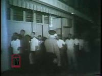 WSB-TV newsfilm clip of African Americans being arrested following a night-time march for civil rights in Danville, Virginia, 1963 July 11
