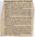 Desegregation Order Protested