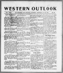 Western Outlook (San Francisco and Oakland, Calif.), Vol. 32, No. 36, Ed. 1 Saturday, May 15, 1926 The Western Outlook