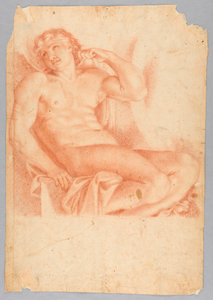 Slave from Hero and Leander in the Galleria Farnese, after Annibale Carraci