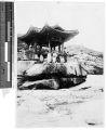 Group of men at a Korean public garden, Korea, ca. 1920-1940