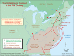 The undeground railroad in the 18th century