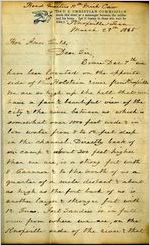 Letter, Henry Cherry in Knoxville, Tenn., to Amos Gould in Owosso, Michigan, 1865 March 27