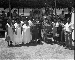 [Group Photograph of the Voices of Zion Community Choir] 18th Annual Texas Folklife Festival