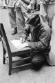 China, condemned man writing will before his execution in Shanghai