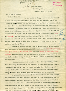 Letter from Emanuel Quivers to W. E. B. Du Bois