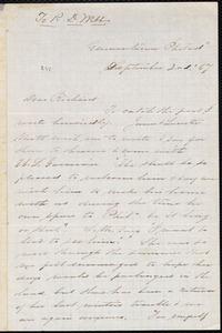 Letter from Sarah Pugh, Germantown, [Pa.], to Richard Davis Webb, September 2nd [18]67