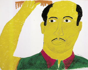 Self-Portrait with Comb