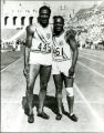 Ralph Metcalfe and Eddie Tolan at Los Angeles Olympics, 1932
