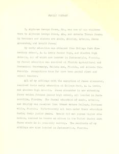 Student family histories: Jones, Alphonso (Thomas, Stanley)