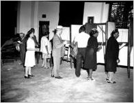 African American voters at Forest Avenue School