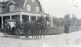 Horse-drawn vehicles, people