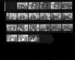 Set of negatives by Clinton Wright including Dr. West receiving Brotherhood Award, NLV Domo Institute Banquet, family, Kappa silhouettes at Ray Fords, 1966