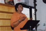 Darlene Roy reading her poetry