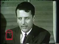 WSB-TV newsfilm clip of an unidentified white man speaking of the possibility of federal voting registrars in Americus, Georgia, 1965 August