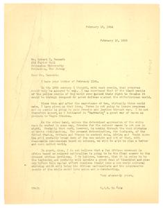 Letter from W. E. B. Du Bois to Robert C. Bennett