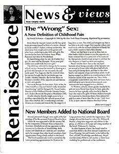 Renaissance News & Views, Vol. 8 No. 8 (August 1994)