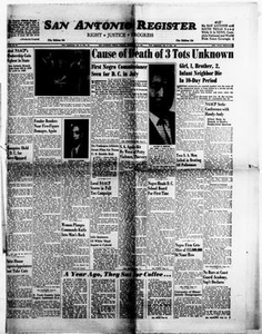 Thumbnail for San Antonio Register (San Antonio, Tex.), Vol. 30, No. 50, Ed. 1 Friday, February 10, 1961 San Antonio Register