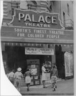 Segregated marquee sign at Palace Theatre, New Orleans, Louisiana
