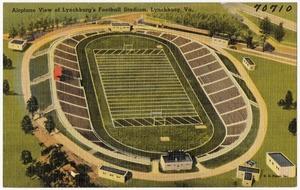 Airplane view of Lynchburg's Football Stadium, Lynchburg, Va