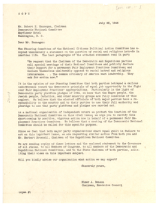Letter from National Citizens Political Action Committee to Democratic National Committee