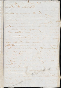 Letter from Moncure Daniel Conway, Bayswater W[est, London, England], to Edmond Beales, Oct[ober] 13. [1863]
