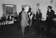 Tito Puente and musicians at the Juilliard School